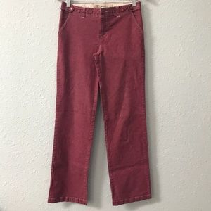 Anthropologie Sitwell red trouser pants size 4